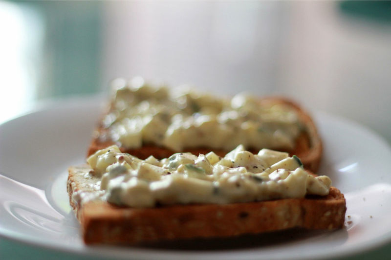Vegetarian keto egg mayo sandwich