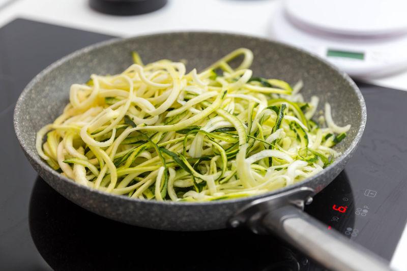 Vegan keto garlicky zucchini noodles